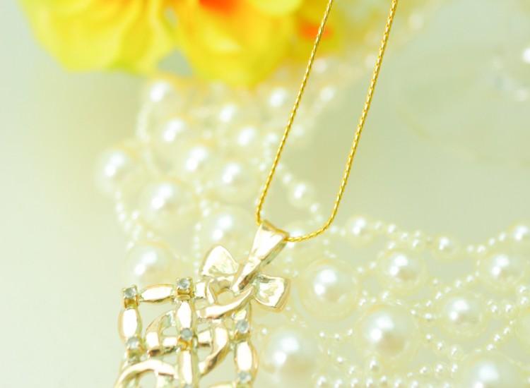 ゴールド ペンダント K10 真珠